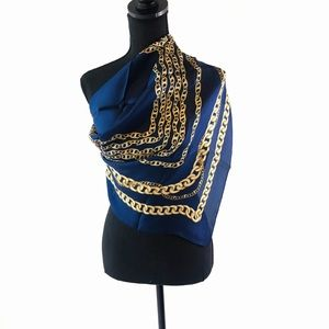 Vintage Scarf in Baroque&chain print